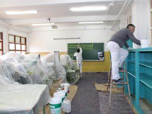 pintores Nordcolor realizando trabajos de pintura